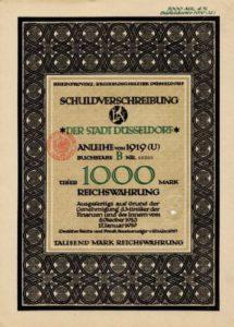 Anleihe der Stadt Düsseldorf von 1919